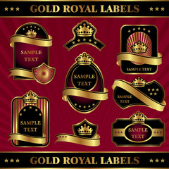 gold royal labels