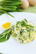 Spring salad with ramson