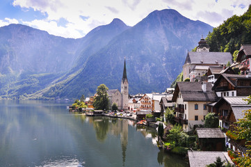 Hallstatt See Lake in Austria, UNESCO World Heritage Site