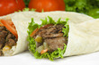 döner gyro wrap close-up