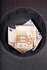 black hat moneybox