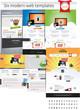 Six modern web templates