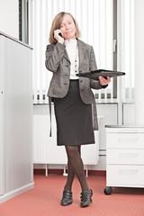 Geschäftsfrau in Aktion