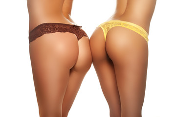 Two female buttocks