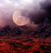 Leinwandbild Motiv Dark fantasy landscape