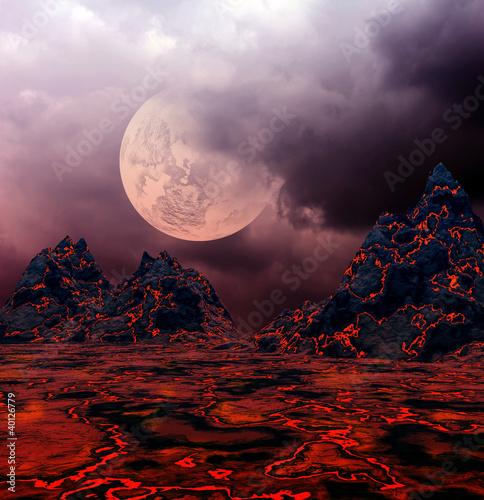 Dark fantasy landscape - 40126779