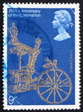 Postage stamp GB 1978 Gold State Coach poster