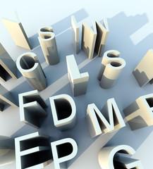 lettere font