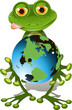 frog and globe