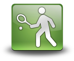 """Green 3D Effect Icon """"Tennis"""""""