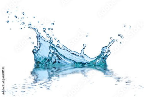 In de dag Water water splash, isolated on white background