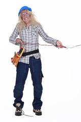 Woman electrocuting