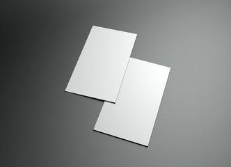 vertical 3d namecard frame design