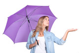 Girl with a purple umbrella
