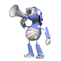 Robot with megaphone