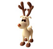Toy Deer in 3D
