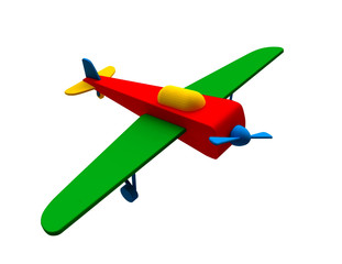 Toy Airplane in 3D