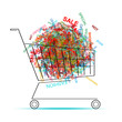 Shopping words in cart for your design
