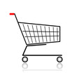 Supermarket cart for your design