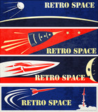Retro Space Web Banners