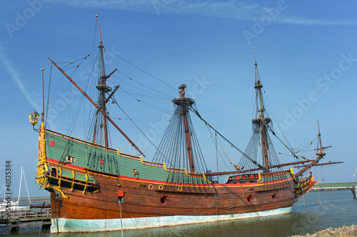VOC galleon in the Netherlands