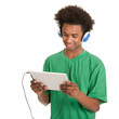 Black boy with tablet