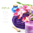 Spa setting in purple tone