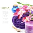 Spa setting in purple tone