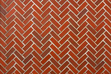 Herring Bone Pattern Brick Wall