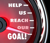 Help Us Reach Our Goal Speedometer Fundraiser Support
