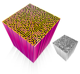 3D maze isolated
