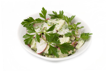 Salad with parsley leaves