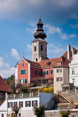 Frohnleiten - small city above Mur River in Styria, Austria.