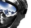 femme et son masque de ski