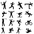 Sports, fitness and athletics icon set