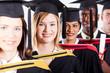 group of international graduates closeup portrait