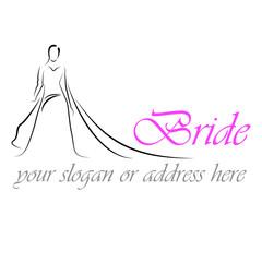 Design Logo Bride # Vector