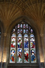Stained glass window, Cathedral Peterborough © Arena Photo UK