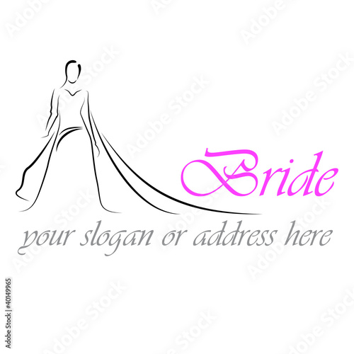 Design Logo Bride # Vector