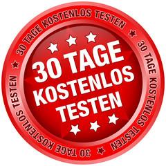 """Button """"30 Tage kostenlos testen"""" rot"""