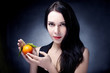 beautiful woman portrait with fruit