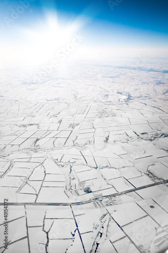 view of the snowy plain