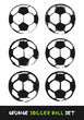 Grunge soccer ball set