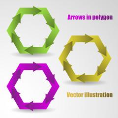 Color arrows in the polygon