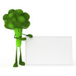 3d rendered illustration of a food character - broccoli