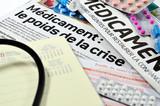 journaux,presse,médecine,génériques,sécurité sociale,crise poster