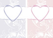 Ornamental backgrounds for decor to the Valentines day