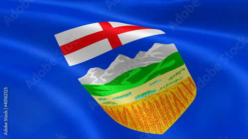 Albertan flag in the wind