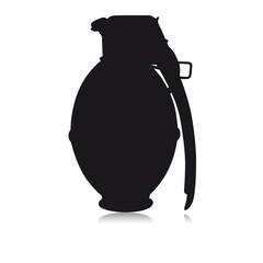 Grenade en forme noir