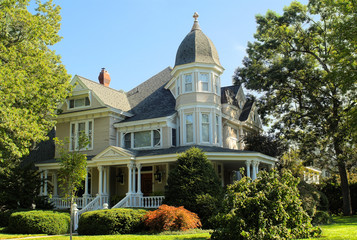 Stately Victorian House circa 1940